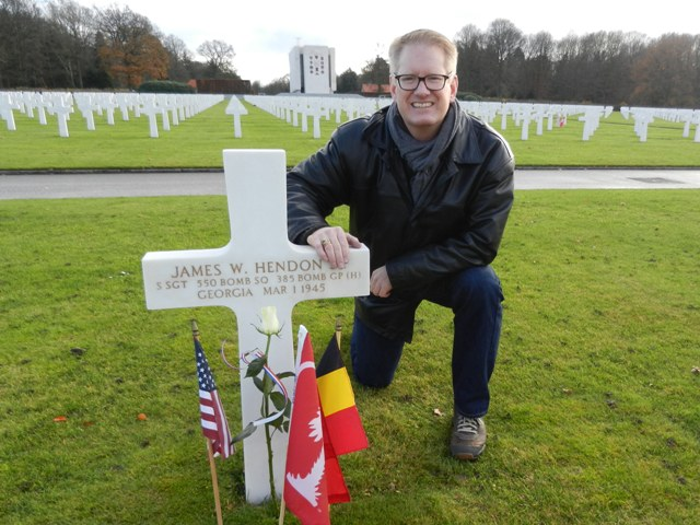 Roger Long '89 at Ardennes American Cemetery in Belgium
