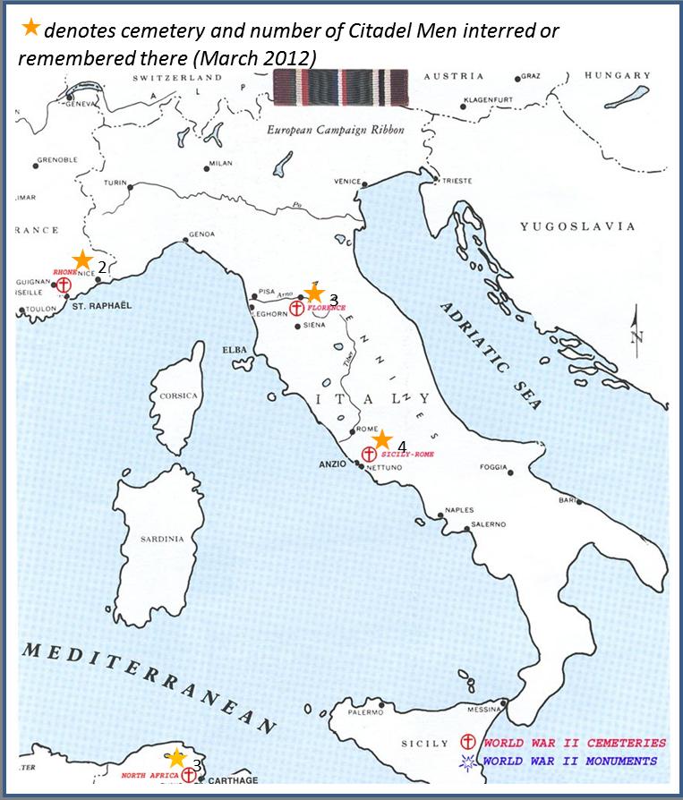 Maps The Citadel Memorial Europe