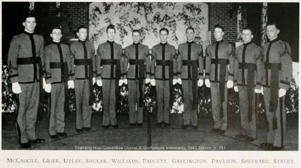 Standing Hop Committee non-seniors 1943 Sphinx p241