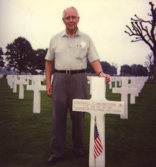 Henry Garlington at his brother Creswell Garlington Jr's grave