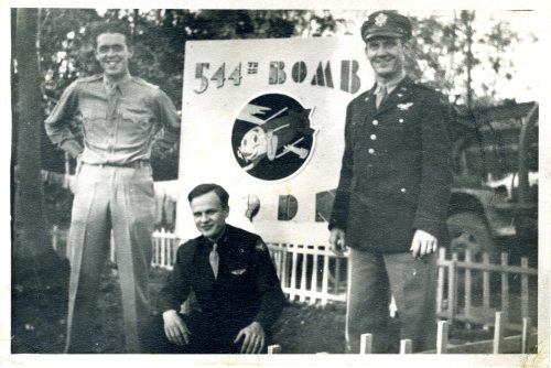 Left to right:  Gerald B. Sammons, William Alvin Henson, and unidentified